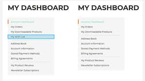 Navigation My Magento Account Dashboard From Links Remove