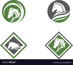 Horse Logo Template Design Royalty Free Vector Image