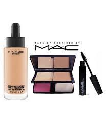 mac studio waterweight foundation lady a pact mascara makeup kit 6 gm