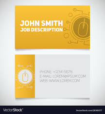 Computer Card Design Business Card Print Template With Computer Mouse