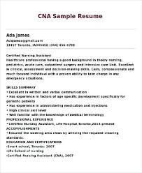 Cna Resume Examples Adorable Cna Resume Examples Sample Of A Resume Best Of Nurse Assistant