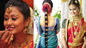 south indian bridal saree d with bridal makeup and bridal hairstyle tutorial marriage makeup