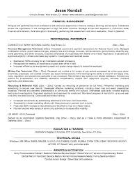 resume finance objective examples