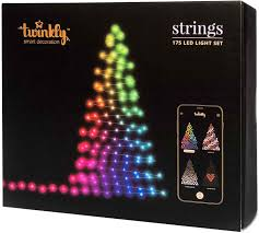 App Controlled Christmas Tree Lights Twinkly Pro Light Christmas Lights Outdoor Decoration String Lights 16 Million Colors Wifi Smart Rgb App Control Capsule Lights Fairy Lamp Fairy Light