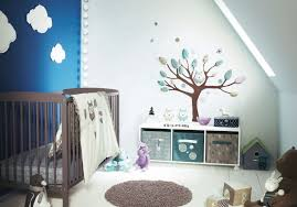 kids purple stained wall bird pattern quilt wooden laminated crib unique wall light cute bear doll