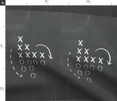 Fabric By The Yard Game Plan Chalkboard Medium 21 Fq