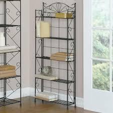 wrought iron bathroom shelf. 5 Shelf Rack Wrought Iron Bakers Kitchen Storage Patio Pool Deck Bathroom #Bakers