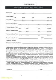 Background Check Authorization Form Classy Form Templates Background Check Consent Criminal Template Best