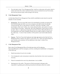 crisis management plan example crisis plan template 9 free word pdf documents download free