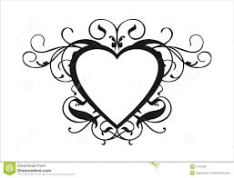 Scroll Heart Heart Scroll Stock Vector Illustration Of Logo Design