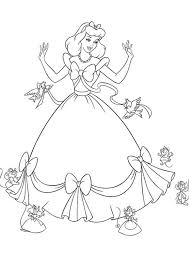 Small Picture Cinderella Coloring Book Pages Disney Coloring Pages