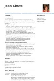 Technology Coordinator Resume Samples Visualcv Resume Samples Database