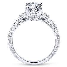 18k white gold vintage inspired amavida diamond engagement ring