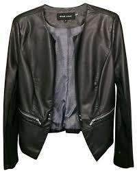 wilsons leather black rivet faux leather blazer