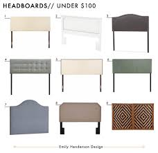 headboards under 100. Beautiful 100 Affordable Headboards Under 100 Roundup Emily Henderson Design In 100 D