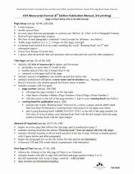 Apa Outline Example Lovely 40 Apa Format Style Templates In Word