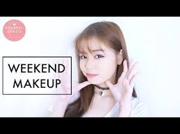 weekend makeup ala korea indonesia