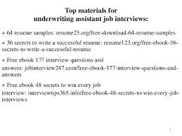 Underwriting Assistant Resumes Underwriting Assistant Resume Sample Pdf Ebook Free Download