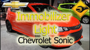 2015 Chevy Trax Immobilizer Light Chevrolet Sonic Immobilizer Light