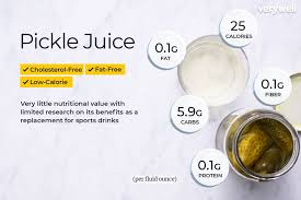 Juice Cure Chart Pickle Juice Nutrition Facts And Health Benefits