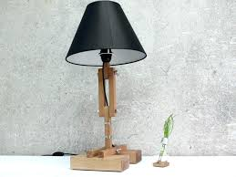 turned wood table lamp wooden table lamps turned wood lamp base big plat handmade floor candlestick danish modern black oak carved washed arc tall weathered