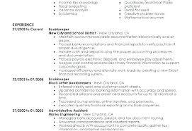 Bookkeeping Resume Bookkeeping Resume Sample Airexpresscarrier Com