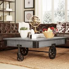 myra vintage industrial modern rustic 47 inch coffee table by inspire q classic