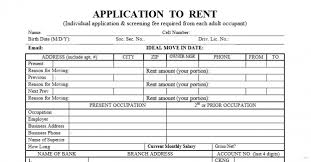 rent application form doc standard rental application latest visualize form 1 standard rental