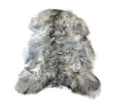 natural undyed gray icelandic sheepskin pelt grey icelandic sheepskin rug