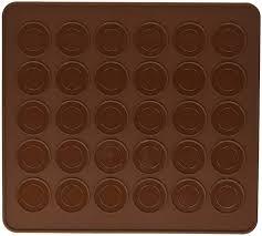 Macaron Guide Sheet Mosuch Silicone Macaron Macaroon Baking Sheet Mat Muffin Diy Chocolate Cookie Mould Mode 30 Capacity Round