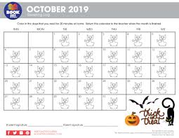 All Months Holiday Reading Calendars The Pizza Hut Book It