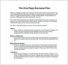 simple one page business plan template two page business plan template new proposal letter format