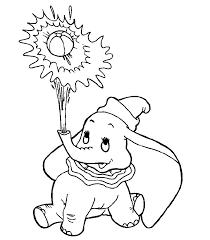 Dumbo Che Gioca Con Lacqua Disegni Da Colorare Disegni Da