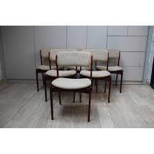 6 vine dining chairs in rosewood model 49 designed by erik buch denmark 1960s design market