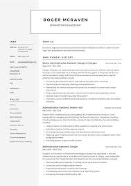 Resume Template Executive Assistant Full Guide Administrative Assistant Resume 12 Samples