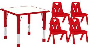 Modern School Furniture Interesting Table Chair Set Modern Square For Kids Room Dining Desk Toddler