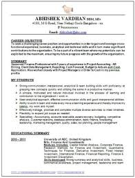 Good Resume Format For Experienced It Professionals Experienced