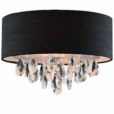 chair cute flush mount chandelier with shade 29 0001742 14 struttura modern crystal round double black