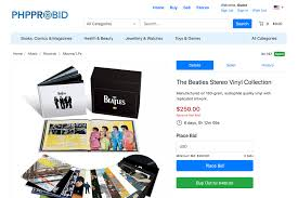 Php Pro Bid Online Auction Software Flexible E Commerce Platform
