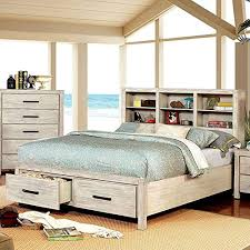 Amazon.com: Esofastore California King Size Bed Furniture White ...