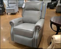grey leather recliner. Jamestown Recliner CLP782 Sofia Light Grey Leather Black Nickel Nails I