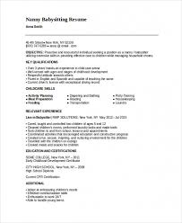 Babysitting Resume Templates Awesome Download Our Sample Of Example Babysitting Resume Template Www