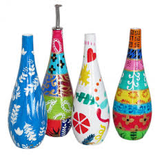 Olive Oil Decorative Bottles Hand Painted Decorative Porcelain Olive Oil Bottle 12