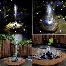 Fountain Lights And Pumps Lewisia Battery Backup Solar Fountain Pump With Led Lighting