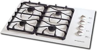 frigidaire glgc30s8es sealed 30 burner gas cooktop white 30 gas through glass cooktop removable control knobs side mounted linear flow gas valves