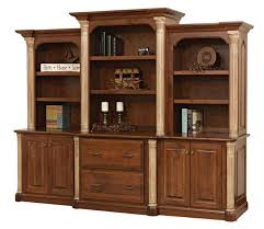 office wall unit. Amish Jefferson Office Storage Wall Unit With Optional Bookcase Top E