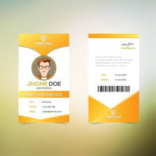 Identity Card Design Id Card Templates 54 Design Templates For Free Download