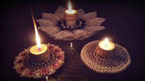 how to make diya holder with cd diy diwali decoration ideas at