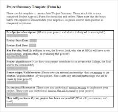 executive summary format for project report project summary template word 31 executive summary templates free
