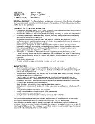 Security Guard Resume Cover Letter Samples Job And Resume Template